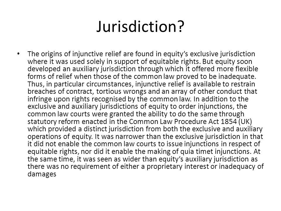 Jurisdiction.