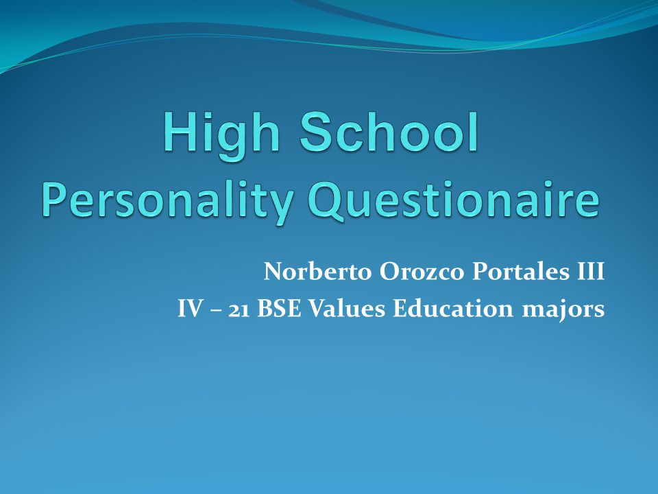 Norberto Orozco Portales III IV – 21 BSE Values Education majors