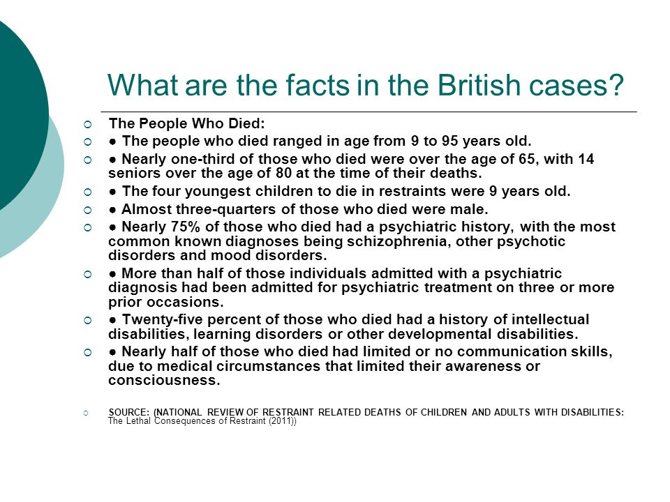 What are the facts in the British cases.
