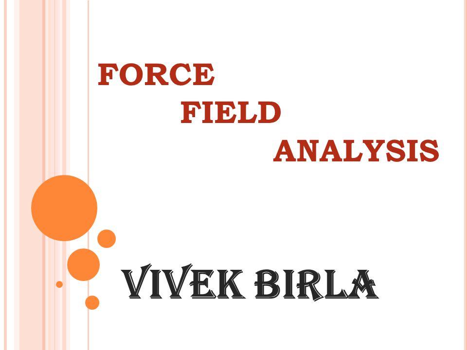 FORCE FIELD ANALYSIS Vivek Birla