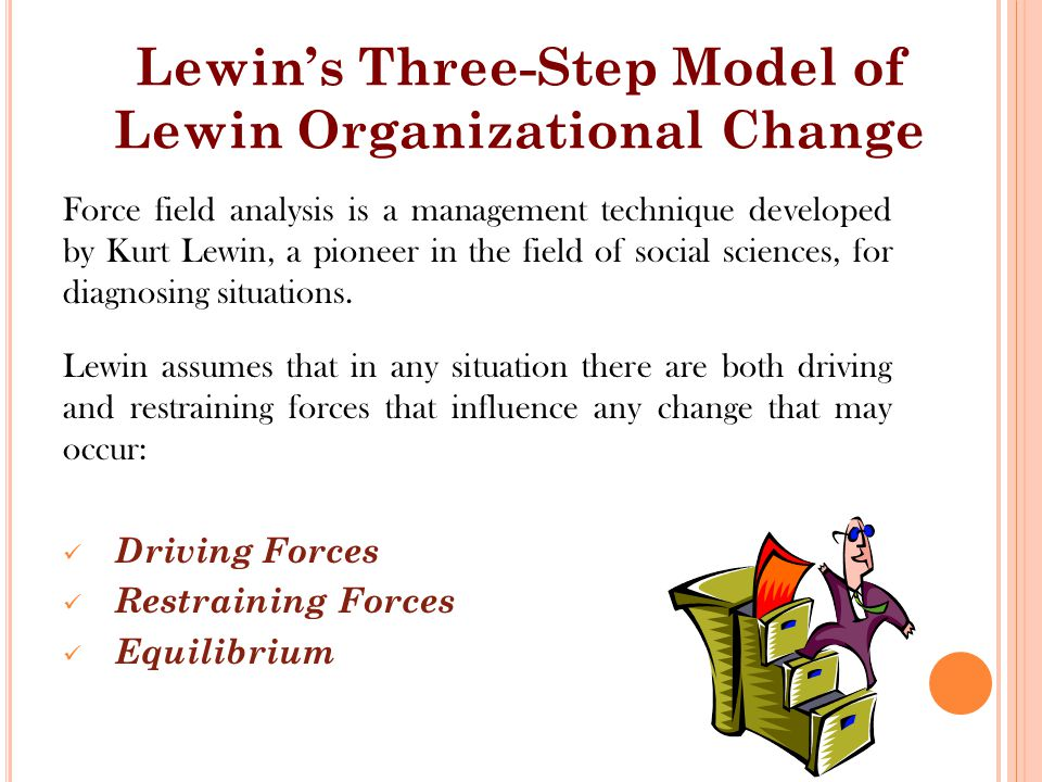 Force field analysis is a management technique developed by Kurt Lewin, a pioneer in the field of social sciences, for diagnosing situations.