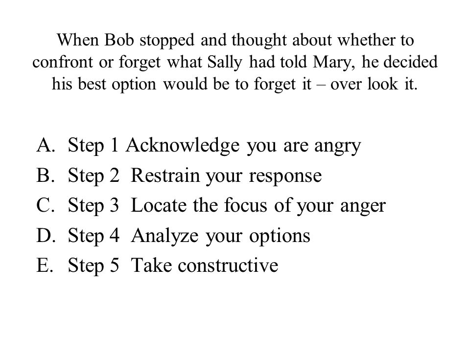 Sally told Mary that Bob was skipping classes and getting in trouble.