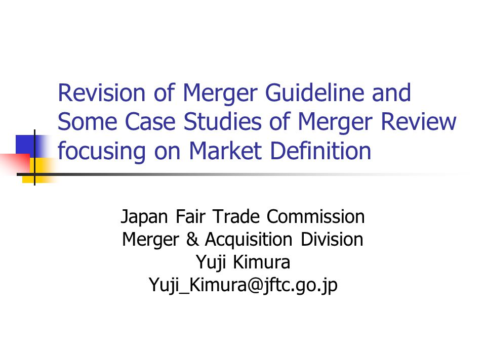 Past Efforts to Improve Accountability of Japanese Merger Regulation Annual release of the outlines on the review of some cases of business combinations (1993 ~ ) Issue of Guidelines to Application of Act concerning Review of Business Combination (5.31.