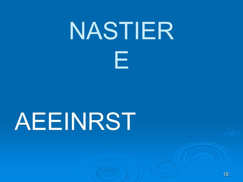 15 NASTIER E AEEINRST