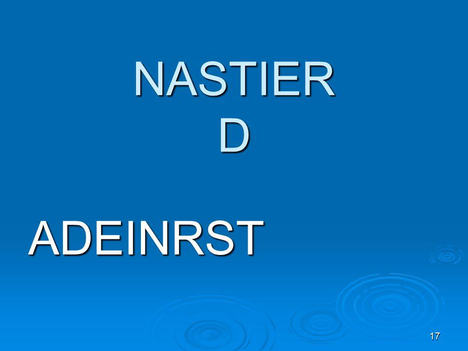 17 NASTIER D ADEINRST