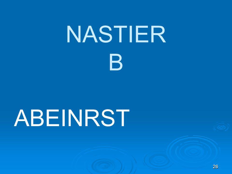 26 NASTIER B ABEINRST