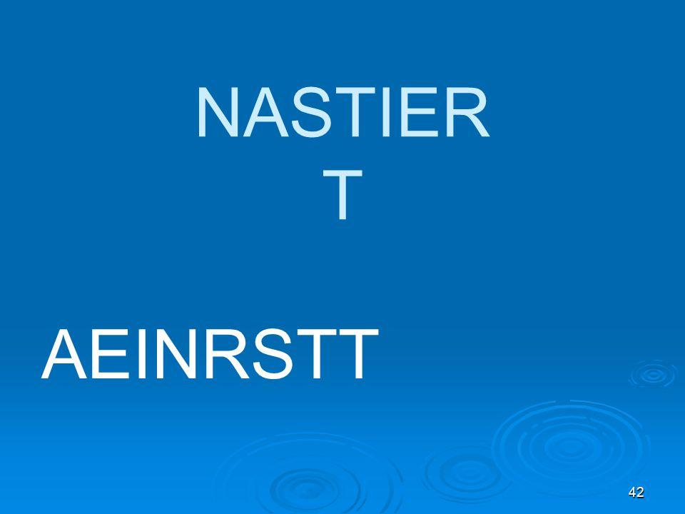 42 NASTIER T AEINRSTT