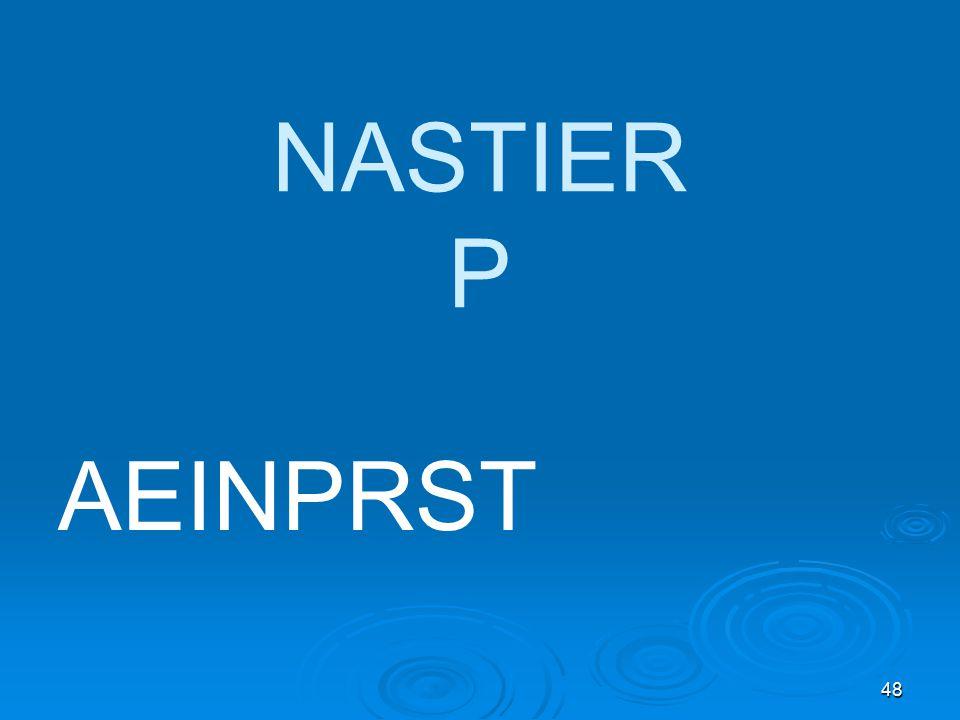 48 NASTIER P AEINPRST