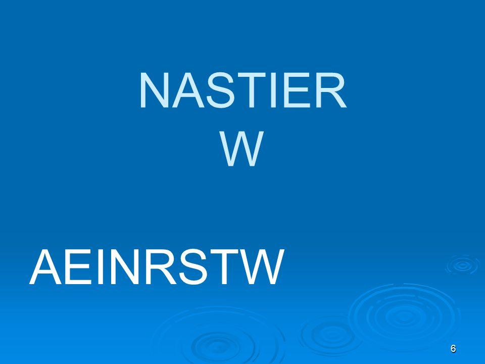 6 AEINRSTW NASTIER W
