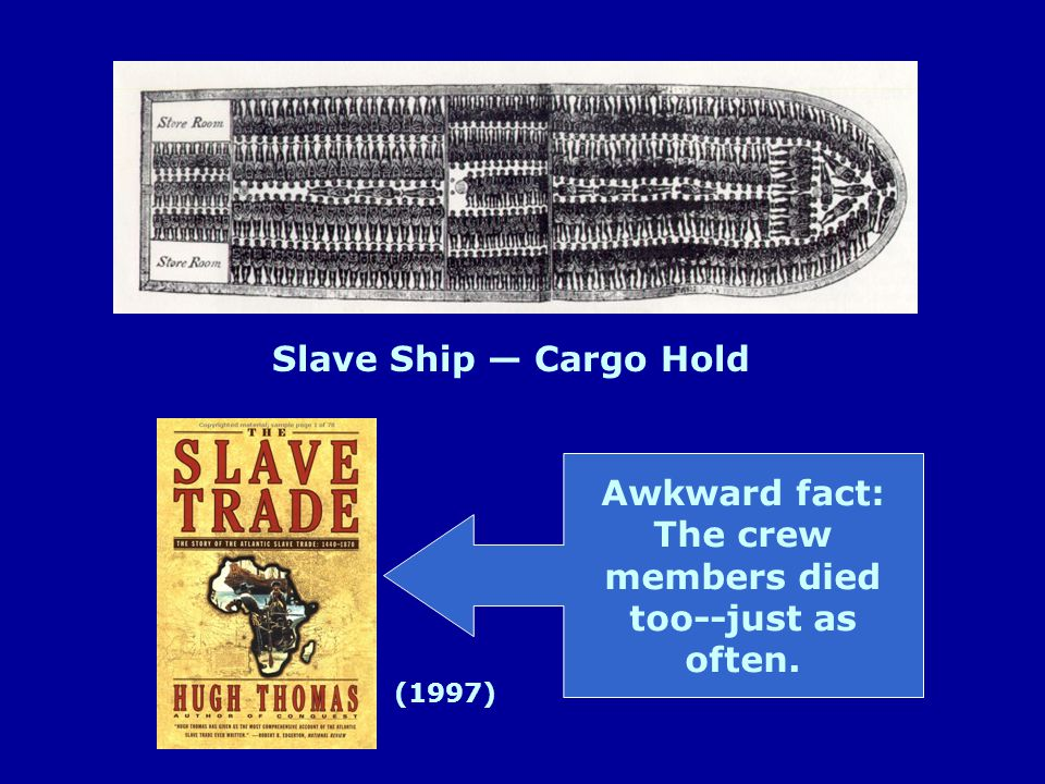 Slave Ship — Cargo Hold Awkward fact: The crew members died too--just as often. (1997)