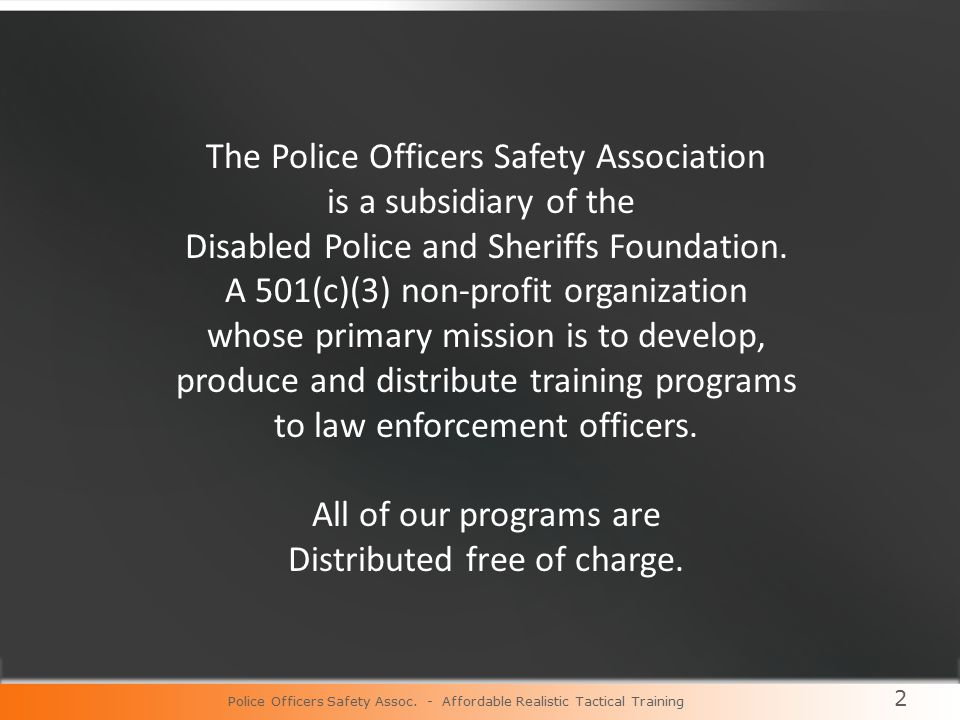 Police Officers Safety Assoc.