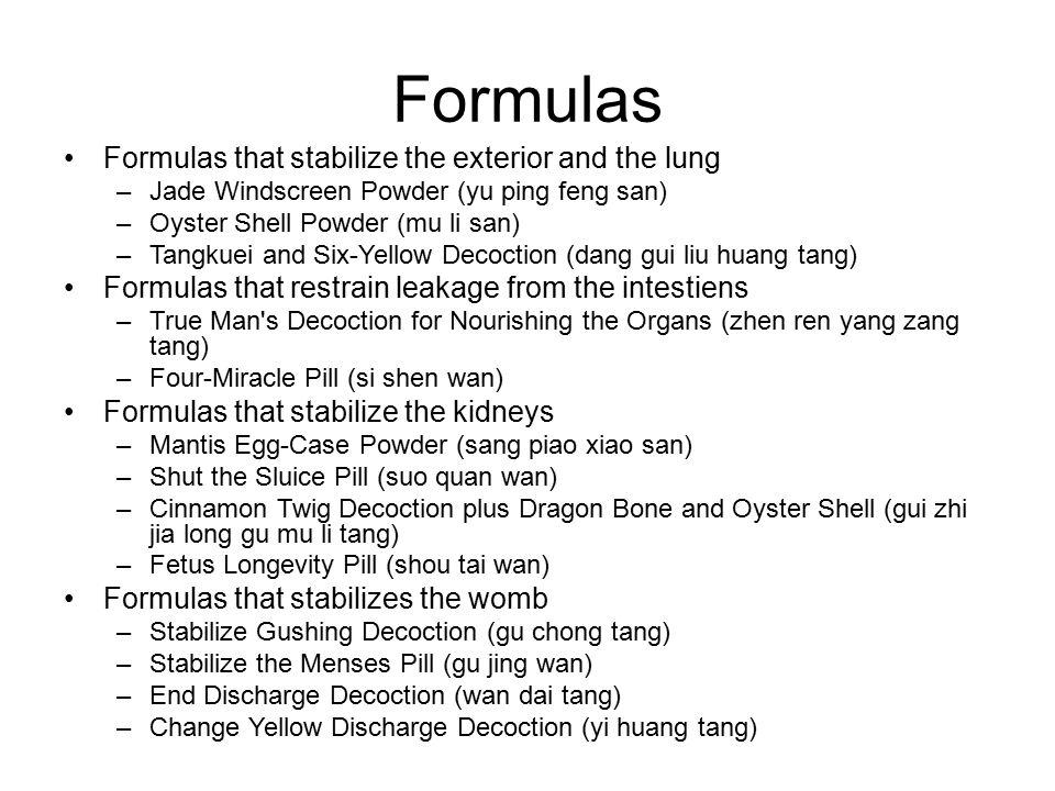 Yu Ping Feng San (Jade Windscreen Powder) Ingredients: Huang qi, bai zhu, fang feng