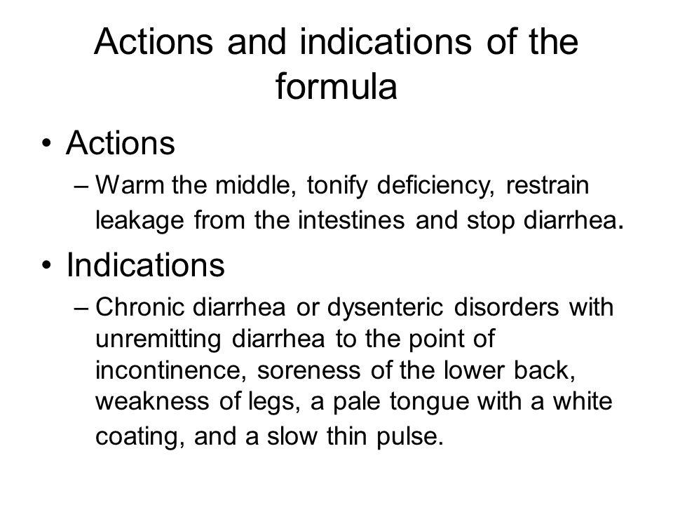 Analysis of Formula Chief: ren shen, bai zhu –Strengthen the spleen and augment the middle qi.