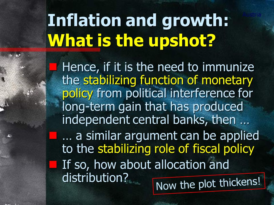 Inflation and growth: What is the upshot.