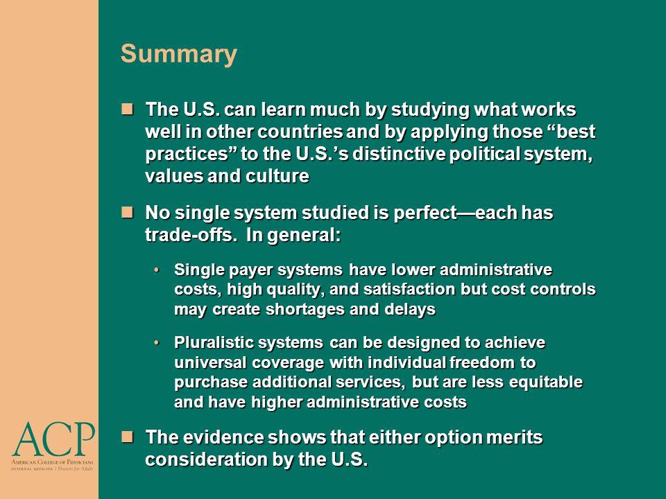 Summary The U.S.