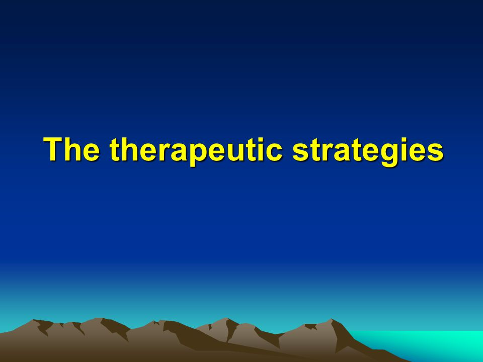 The therapeutic strategies