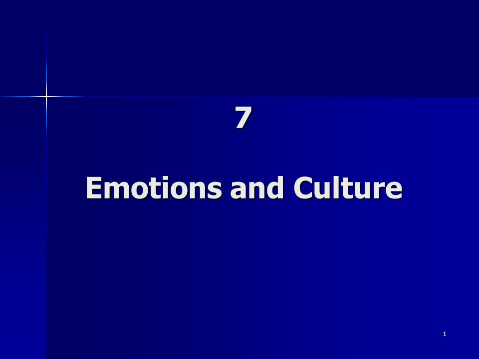 1 7 Emotions and Culture