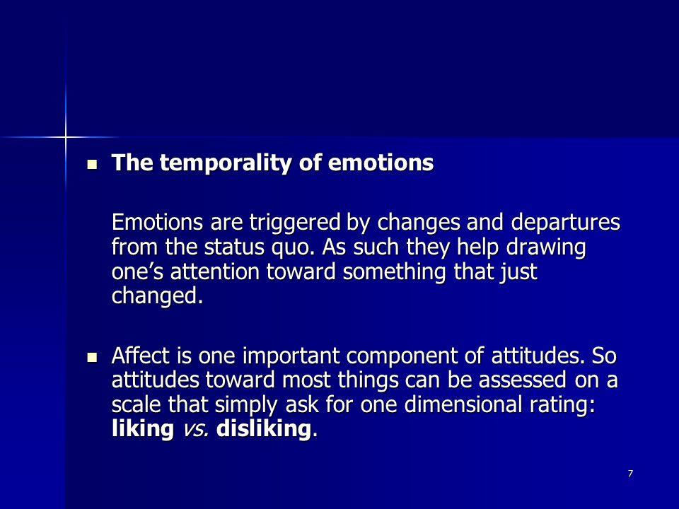 28 Guilt Guilt It is a good example showing that behavior pursues emotions.