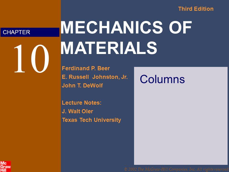 MECHANICS OF MATERIALS Third Edition Ferdinand P.Beer E.