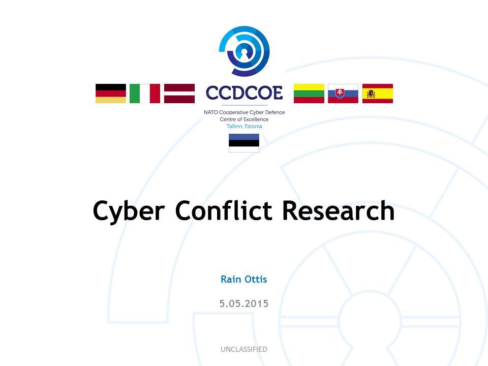 Volunteers in Cyber Conflict UNCLASSIFIED