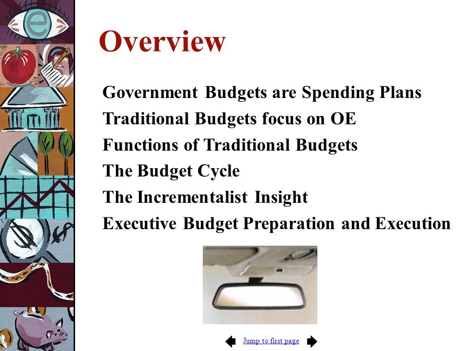 Jump to first page EXECUTION Budget Authority (specifies by agency, timing, and account code the authority to spend) Obligations (enforced by anti- deficiency act) Inventory recorded Outlay Expense or Cost