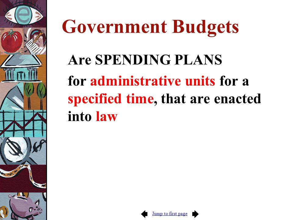 Jump to first page Spenders' Budget Tactics: Ubiquitous II Price Changes Workload Changes Methods Improvement New Services Full Financing