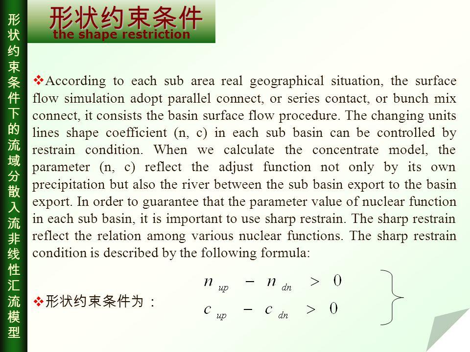 结语 Conclusion The hydrological procedure influenced by geographical basin characteristic and humans ' activity is a focus question at present [4].