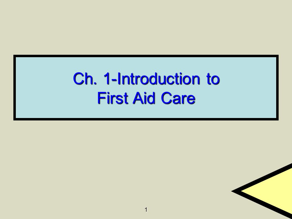 2 1.1 What Is First Aid.
