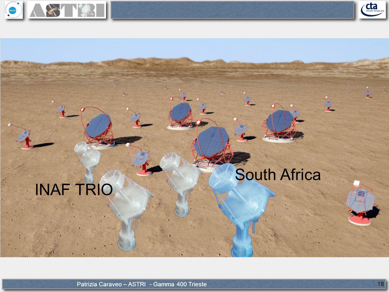 Patrizia Caraveo – ASTRI - Gamma 400 Trieste 18 South Africa INAF TRIO