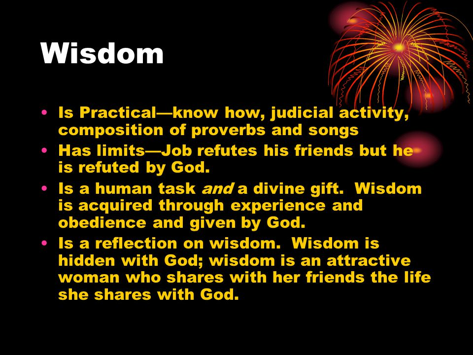 Relationship of Wisdom/Saving History What is the relationship between nature and grace, creation and saving history.
