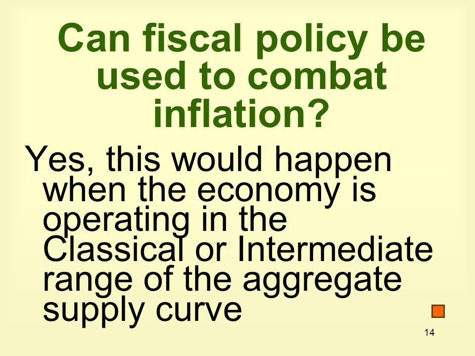 14 Can fiscal policy be used to combat inflation.