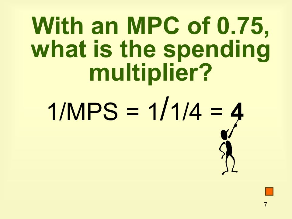 68 3.If the marginal propensity to consume is 0.60, the value of the spending multiplier is a.