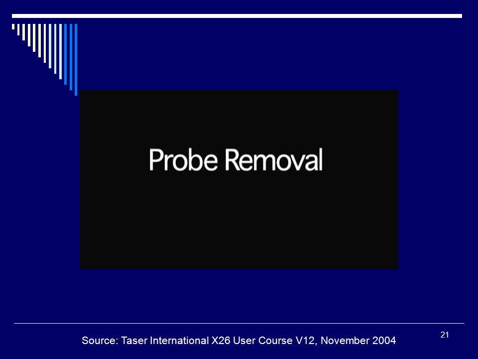 21 Source: Taser International X26 User Course V12, November 2004