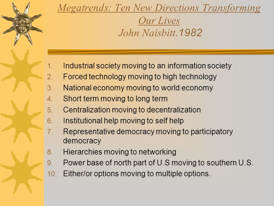 Megatrends 2000: Ten New Directions for the 1990s.