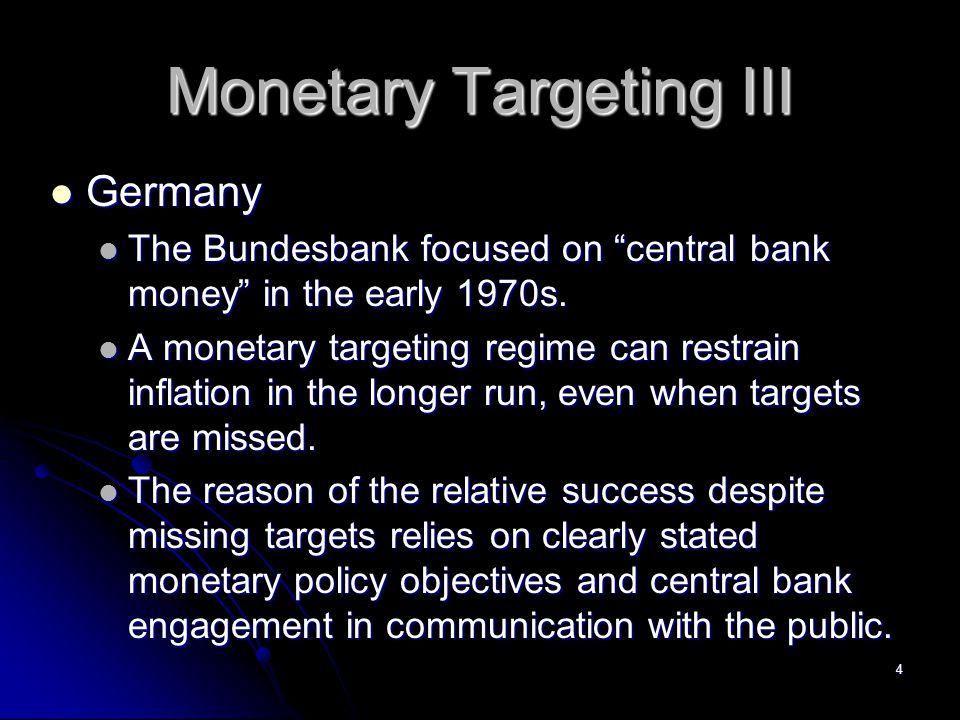 15 Result of Targeting on Nonborrowed Reserves