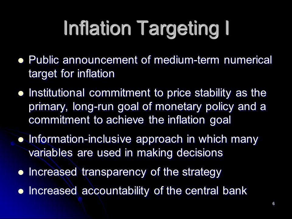 17 The Taylor Rule, NAIRU, and the Phillips Curve An inflation gap and an output gap An inflation gap and an output gap Stabilizing real output is an important concern Stabilizing real output is an important concern Output gap is an indicator of future inflation as shown by Phillips curve Output gap is an indicator of future inflation as shown by Phillips curve NAIRU NAIRU Rate of unemployment at which there is no tendency for inflation to change Rate of unemployment at which there is no tendency for inflation to change