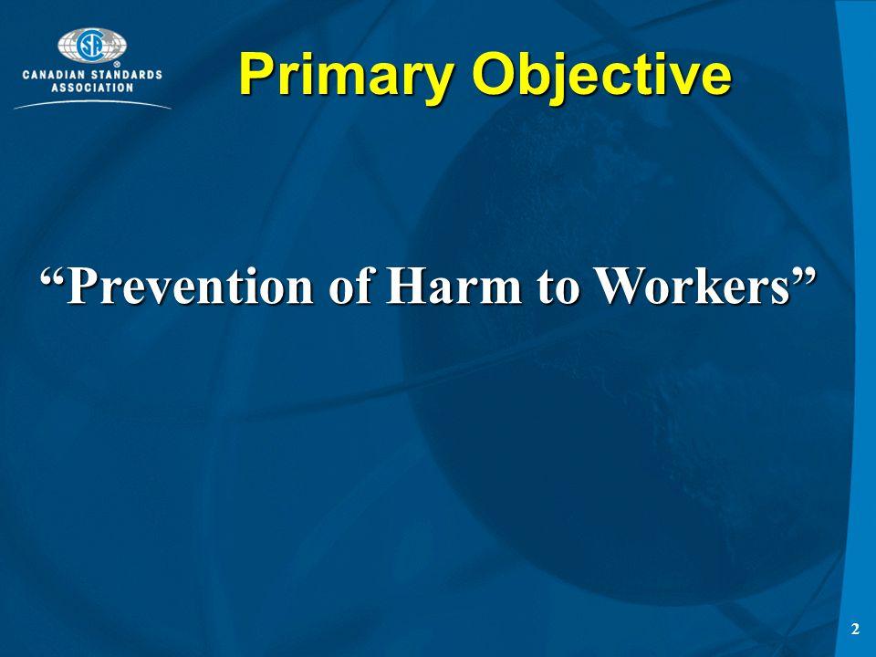 1 Canadian Standards Association Occupational Health & Safety Program