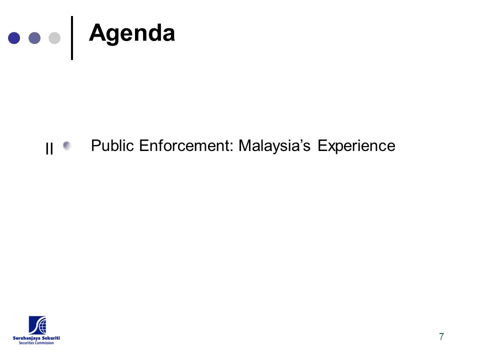 7 Agenda Public Enforcement: Malaysia's Experience II
