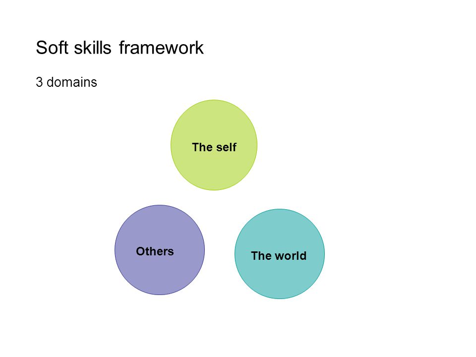 Soft skills framework 3 domains Others The world The self