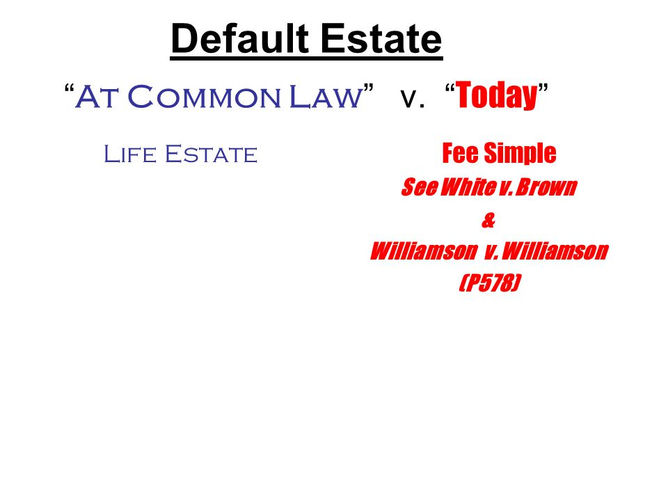 """ At Common Law "" v. "" Today """