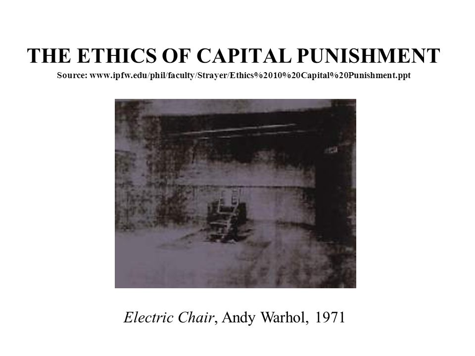 PRINCIPLE SIX II For van den Haag, if we do not have capital punishment then there is a risk to innocent people that a convicted murderer released from prison may kill again, and if we do have capital punishment, the risk is that an innocent person may be put to death.