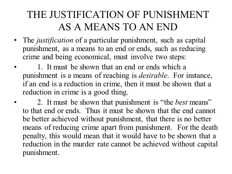 an argument in favor of death penalty as punishment for serious crimes The death penalty breaches two by the state as punishment for a variety of crimes the death penalty can be used for the most serious crimes.