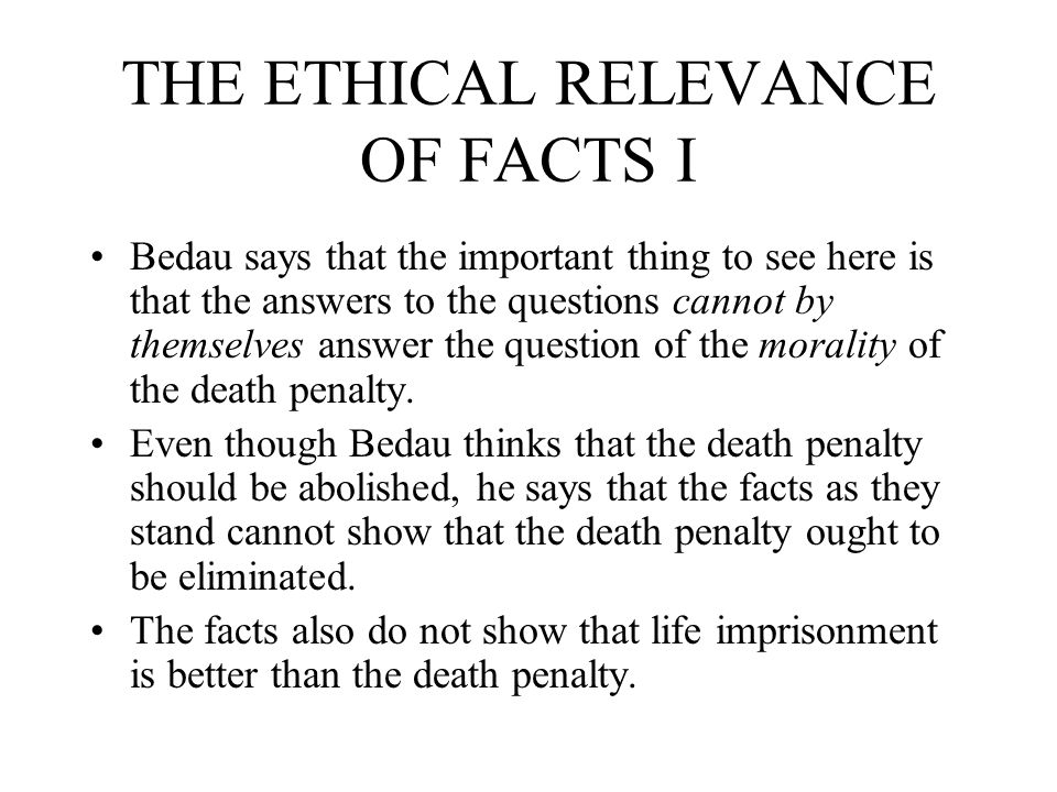 MORAL PRINCIPLES RELEVANT TO THE DEATH PENALTY II Principle 4: Whatever the criminal offense, the accused and convicted offender does not forfeit all his rights and dignity as a person.