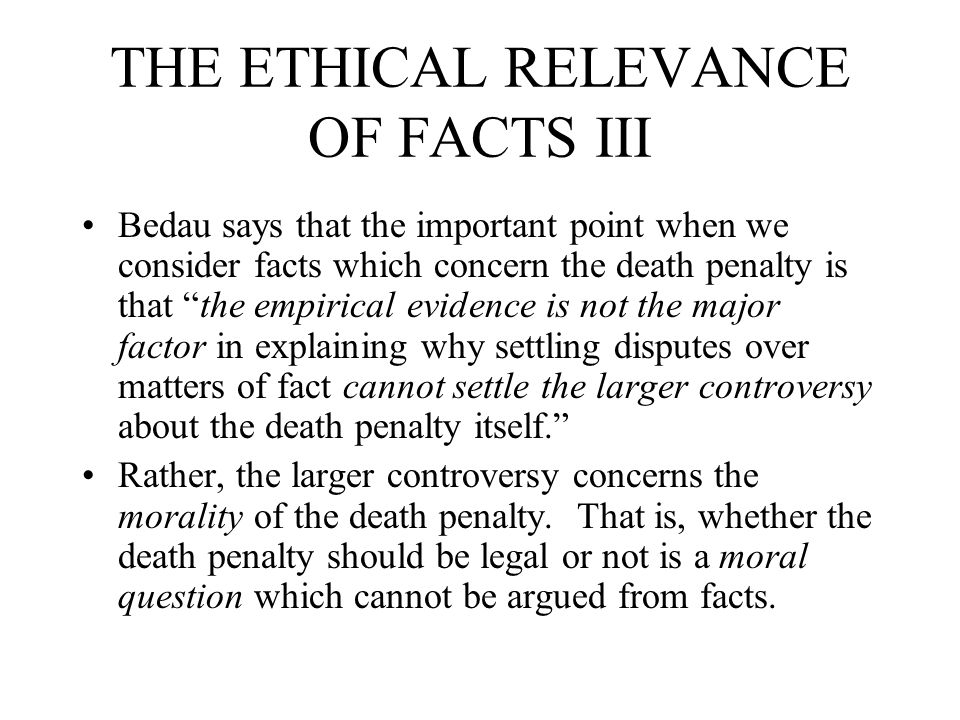 IS THE DEATH PENALTY EXCESSIVE.