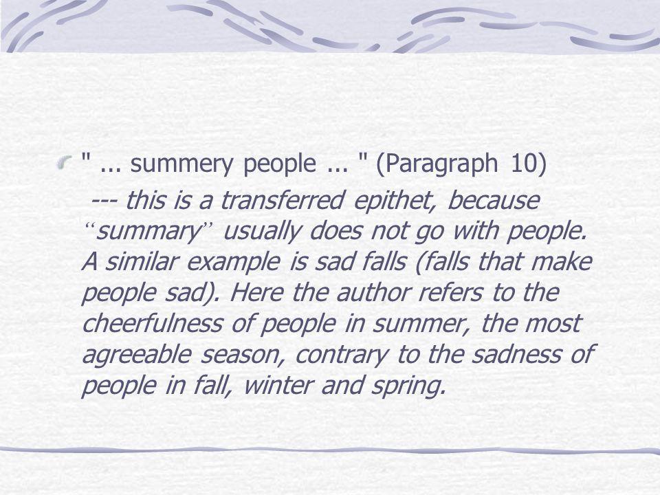 ...summery people...