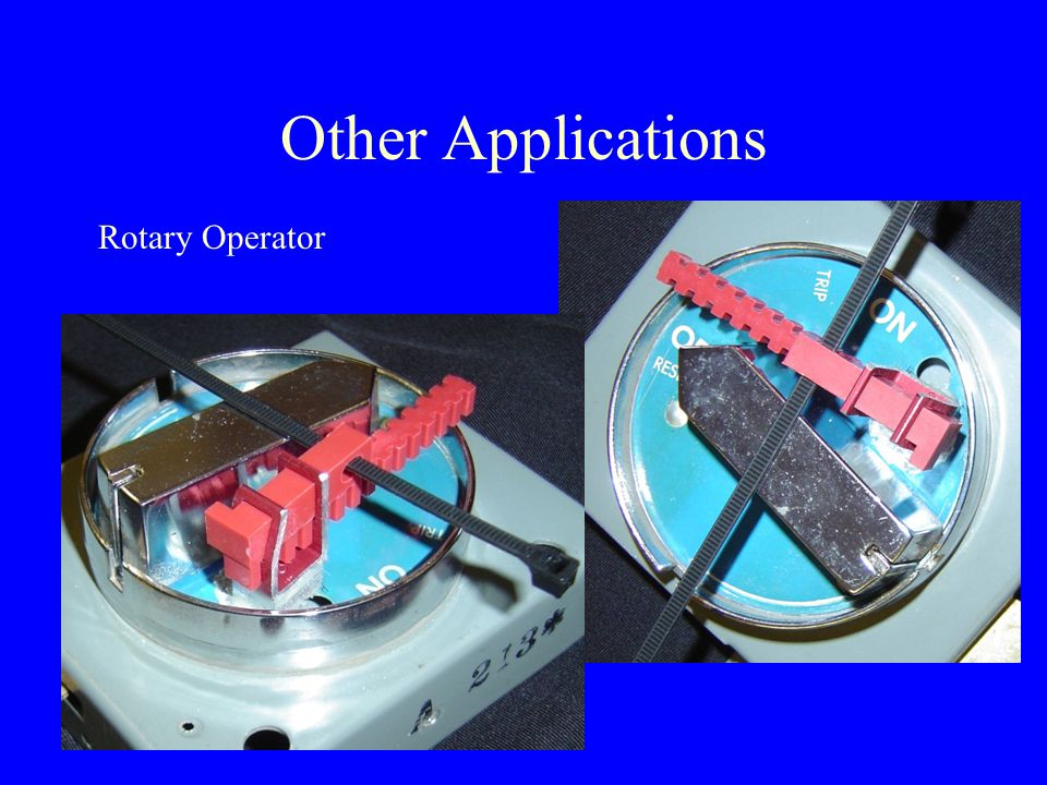 Other Applications Rotary Operator
