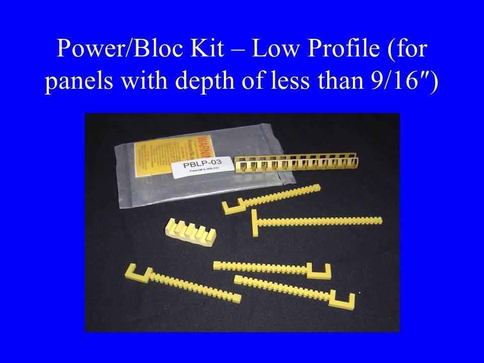 Power/Bloc Installation Align mid-point of first two slots in Power/Bloc channel with mid-point of top breaker; center Power/Bloc channel in panel