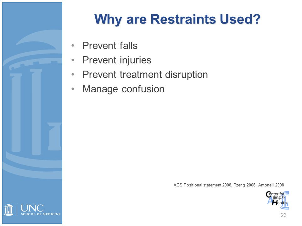Why are Restraints Used.