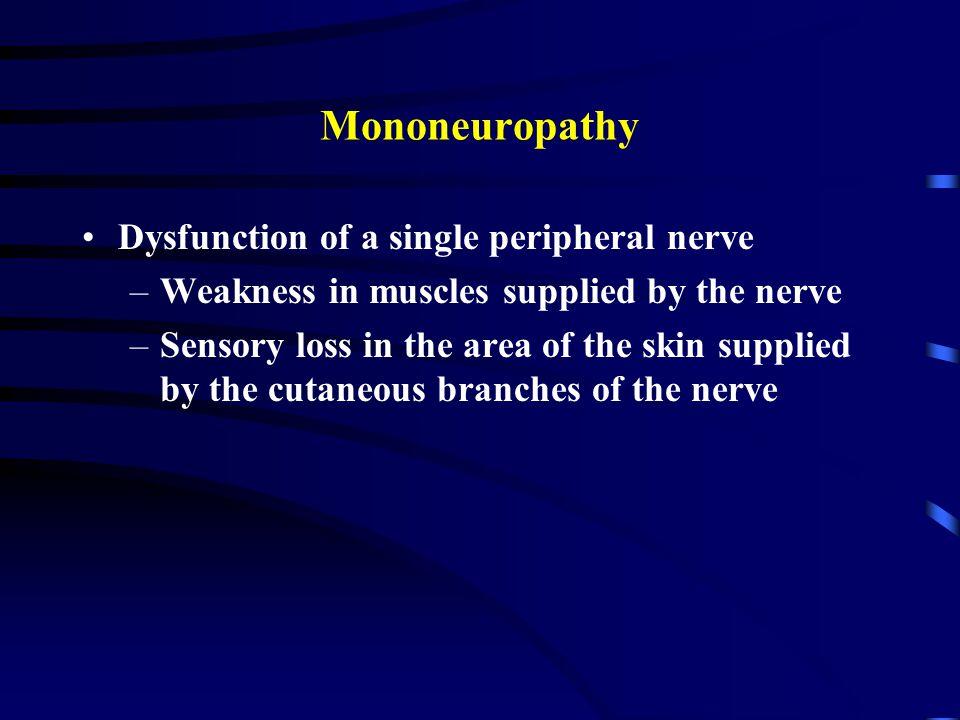 Case 3, sensory loss