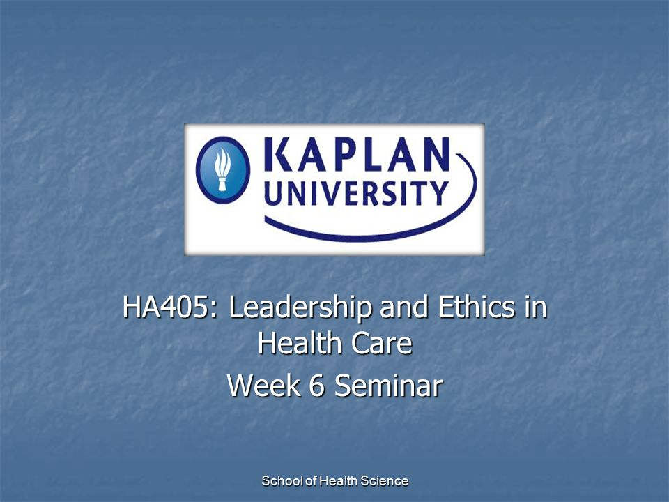 School of Health ScienceConclusion Understand how stewardship and respect relate to each other and how important this is for an effective leader Know the difference between self esteem and self centeredness and how these traits impact a leader Your personal code of ethics will shape the leader you become.